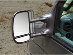 These standard mirrors have manually adjustable flat glass and a