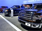 Ford had its F-Series trucks in various configurations at the auto