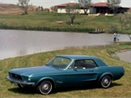 This 1968 Mustang is a blue hardtop.