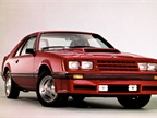 From 1979 to  86, the Mustang had a triangle-shaped front clip and