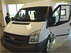 The Ford Transit commercial van shown at the commercial truck