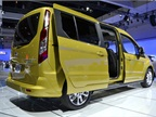 Shown here is the long wheelbase version of the Transit Connect Wagon,