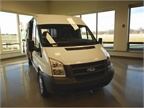 The Ford Transit commercial van.