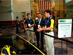 The University of Michigan Solar Car Team displayed its solar-powered