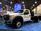 Landi Renzo brought an F-450 dedicated CNG truck with Knapheide