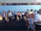 Attendees enjoy the dinner cruise.