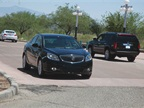 The 2013-MY Buick Verano being test-driven at the ride-and-drive