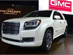 The 2013 GMC Acadia and Acadia Denali (shown here) feature new
