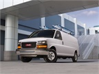 The Chevrolet Express and GMC Savana (pictured) van lineup for 2018