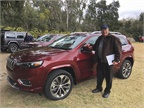 Editor Mike Antich gets ready to drive the 2019 Cherokee.