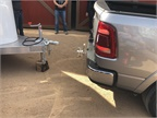 The Ram 1500 features a Class III trailer hitch and lighted,