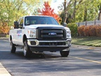 Landi-Renzo brought a natural gas Ford F-250. Photo by Lauren