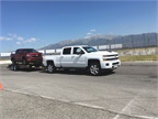 The Silverado 2500 HD tows up to 14,800 lbs with standard Vortect 6.0L V8, and 18,100 lbs with available Duramax 6.6L Turbo-Diesel V8.