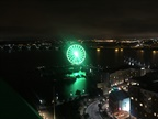 The Ferris Wheel at National Harbor was illuminated in green,
