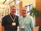 (Left) Ron Shoemaker of Flexco spends time catching up with Dick