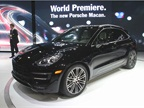 The 2014 Porsche Macan Turbo is powered by a twin-turbo 3.6L V-6 and