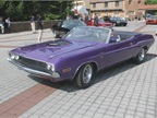 The 1970 Dodge Challenger Convertible with the Plum Crazy Shaker Hood