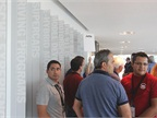 Fleet managers get ready for a tour of the Porsche headquarters and