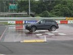 An Audi Q5 presented the toughest challenge to drivers on the wet