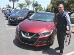 Senior Editor Chris Wolski gets ready to drive the Maxima SL.