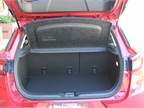 The CX-3 offers 12.4 cubic inches of cargo capacity with the rear