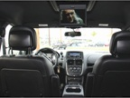 Rear passengers (second-row view) can view rear seat entertainment via
