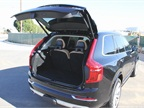 The XC90 offers 15.4 cubic feet of storage with three rows of seating.