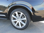 Our XC90 included optional 21-inch wheels.