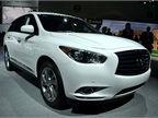 Infiniti showed its all-new 2013-MY JX at the auto show.