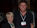 Janis Christensen of Mercury Associates and Phil Moser of ADTS spend