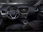 Inside the all-new Jeep Cherokee the vehicle features premium cloth or