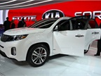 Kia showed a redesigned version of its Sorento at the LA Auto Show.