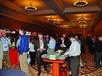 Attendees enjoy lunch in the Expo Hall. Twenty-four companies