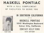 In 1970, Haskell Pontiac focused its ad on fleet manager Kelly Ring.