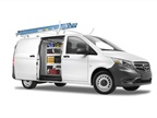The Mercedes-Benz Metris is a mid-sized van that offers 186 cubic feet