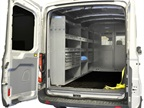 This rear view of the cargo area of the medium roof Transit shows