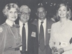 Ellis Lyons, AALA general counsel, and his wife on the left, with