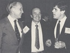 (from left) Leaseway s Meacham Hitchcock, Ford s Lou Polsinelli, and