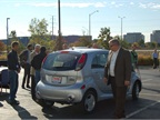 Mitsubishi Motors brought the i-MiEV to the conference for attendees