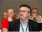 Dave Lighthall, CAFM, of The Kraft Heinz Company, listens intently