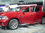 The 2014 Ram 1500 full-size pickup truck is available with a 3.0L V-6