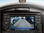 A backup camera is available as part of an option package.