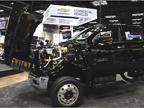 The trucks (4500HD pictured) offer a tilting hood so mechanics can