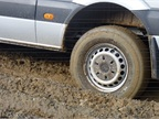 Instead we got mud, a substantial challenge for any four-wheel-drive