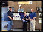 "2014 Highest Online Sales Percentage: Manheim Harrisonburg From left, lower row: Robert ""Biggin"" Vernon, Linda West and Lee Barbato Top row: Karl Kiracofe"