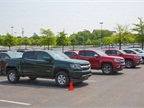 GM's three-truck strategy was in full display during the test