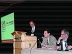 (L-R) Bob Rauschenberg of ADESA moderated a panel featuring Greg