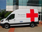Five new Ford Transit vans are in use as Red Cross emergency response