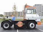 Orange EV brought one of its electric yard trucks to the ride and