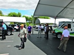 A large number of vehicles were available for attendees to take for a